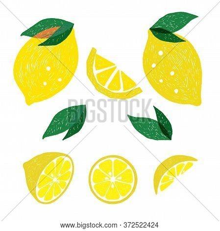 Lemon Illustration, Cartoon, Fruit Illustration, Symbol, Lemon Drawing, Cute Lemon, Lemon Motif, Ele