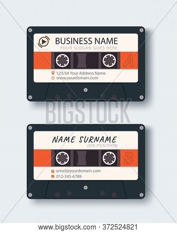 Corporate Business Card. Personal Name Card Design Template. Vector Illustration. Front And Back Pag