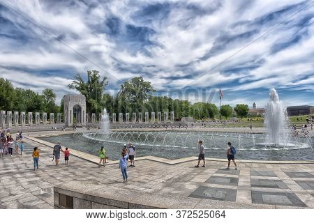 22,06,2016 Washington, Dc National World War Ii Memorial In Washington, Dc, It Is Dedicated To Ameri