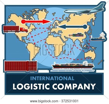 International Logistics Company. Shipment Of Goods By Various Means Of Transport Anywhere. Transcont