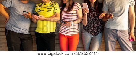 Connection Digital Device Nteworking Technology Concept Group Of People Connection Digital Device