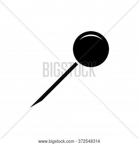 Push Pin, Thumbtack Icon Flat Vector Template Design Trendy