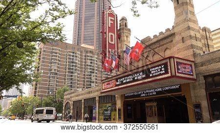 Famous Fox Theatre In Midtown Atlanta - Atlanta, Georgia - April 20, 2016