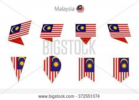 Malaysia National Flag Collection, Eight Versions Of Malaysia Vector Flags. Vector Illustration.