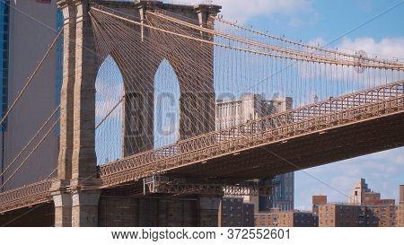 Brooklyn Bridge New York Leading From Manhattan To Brooklyn
