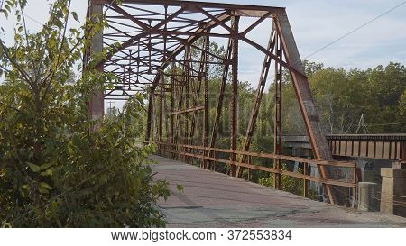 Original Route 66 Bridge From 1921 In Oklahoma - Usa 2017