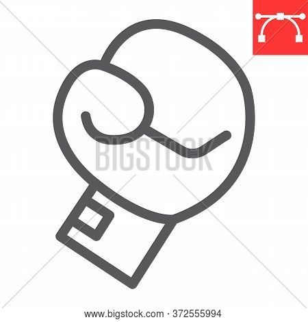 Boxing Glove Line Icon, Fitness And Sport, Boxing Sign Vector Graphics, Editable Stroke Linear Icon,