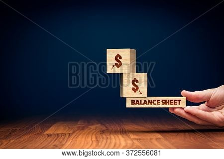 Company Finances In Balance Concept. Financial Accounting Profit And Loss Balance.