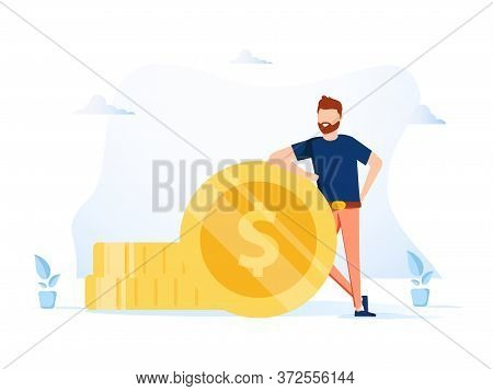 Business Investment And Money Savings Clipart. Fees And Funding Metaphors. Vector Isolated Metaphor