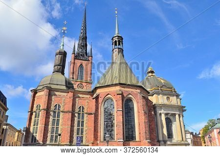 Stockholm, Sweden. Knight Church In A Sunny Summer Day