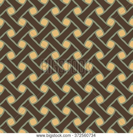 Retro Vintage Chinese Traditional Pattern Seamless Background Geometry Bamboo Weaving Cross