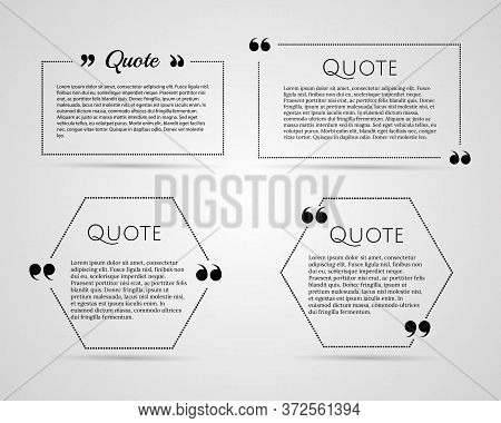 Quote Blank Template. Quote Bubble. Empty Template. Paper Sheet, Information, Text. Print Design. Qu