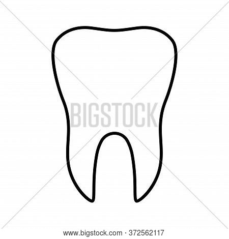 Tooth Flat Icon Isolated On White Background. Tooth Vector Illustration. Dentistry Symbol. Stomatolo