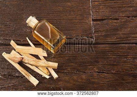 Holy Wood Or Sacred Wood - Bursera Graveolens. Space Text