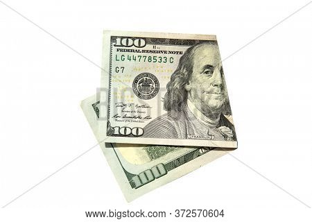 $100.00. Folded $100.00 American Bill. Cash.