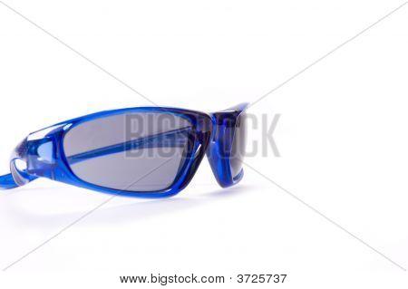Sunglasses On White Background Fashion Black Lens