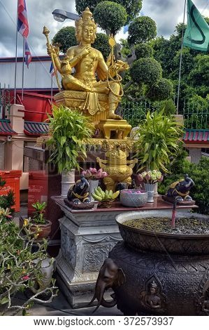 Thailand, Pattaya 30,06,2017  Anek Kuson Sala Pattaya,the Viharn Sien Is A Beautiful Chinese Temple