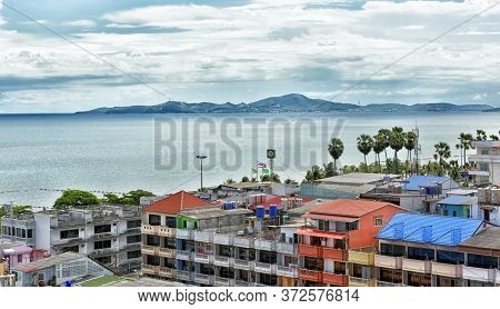 Thailand, Pattaya, 24,06,2017, View Of Pattaya And The Sea From The Hotel