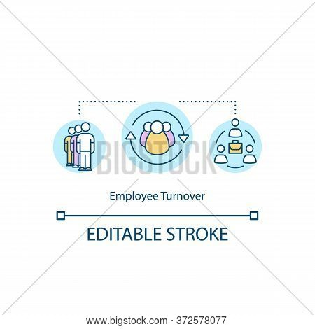 Employee Turnover Concept Icon. Replace Worker. Unemployment Problem. Substitute For Job Position Id