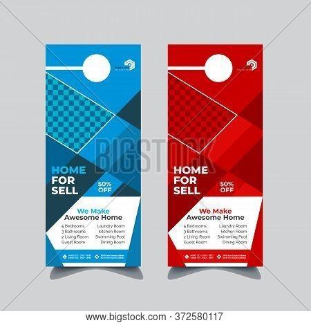 Real Estate And Corporate Door Hanger Design, Hanger Tags, Door Hanger Tags For Room In Hotel Or Res