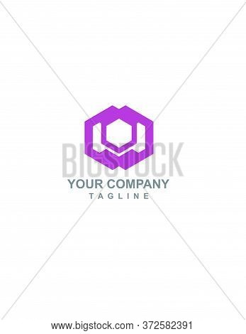 Wo, Ow, Wd, Dw Initials Geometric Hexagonal Logo And Vector Icon