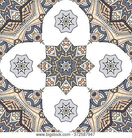 Seamless Pattern Vector Illustration. Vintage Decorative Elements. Hand Drawn Background. Islam, Ara