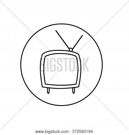 Television Transparent Sign , Linear Symbol And Stroke Design Elements In Outline Style. Television