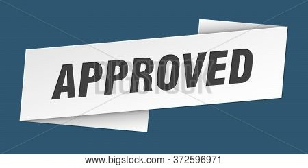 Approved Banner Template. Approved Ribbon Label Sign
