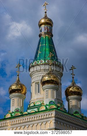 Banstol, Serbia, May 11, 2020, Construction Of New Temple Of The Blessed Virgin Mary On Fruska Gora,