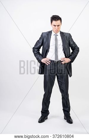 Challenging Man In Suit