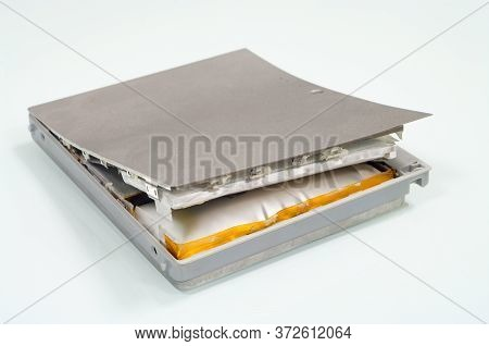 Lithium-ion Battery From Laptop, Which Has Expanded.