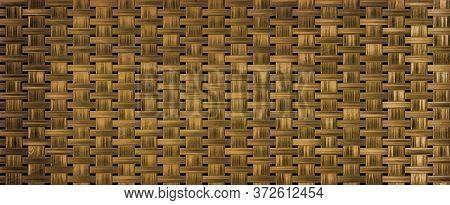 Wicker Rattan Seamless Texture. Basketwork Background Or Texture