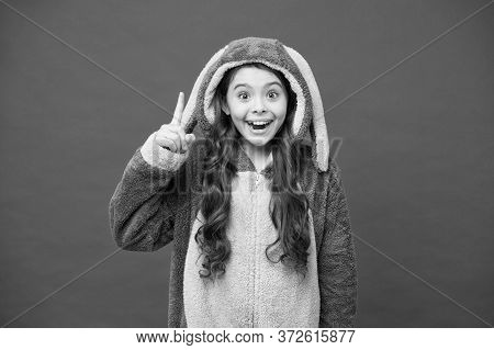 Inspired Rabbit Child Relax. Baby Animal. Create Your Morning. Comfortable Homewear Fashion. Small G