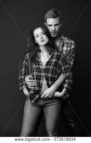 Macho Man Undress Woman. Love And Romantic Relationship. Romance. Happy Valentines Day. Man And Girl