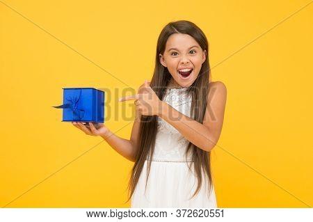Buy It Now. Shopping. Portrait Excited Girl. Celebrate Birthday. Birthday Gift. Feeling Grateful. Su