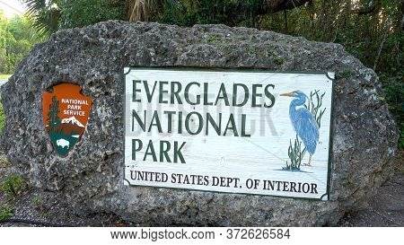 Everglades National Park In Florida - Miami, Florida April 10, 2016