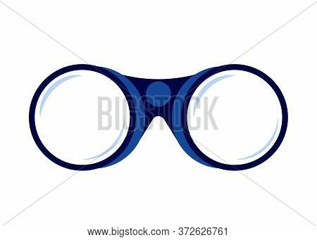 Binoculars. Watching Far, Search, Future. Object Looking For Best Suited Employee. Hr Recruiting Vec