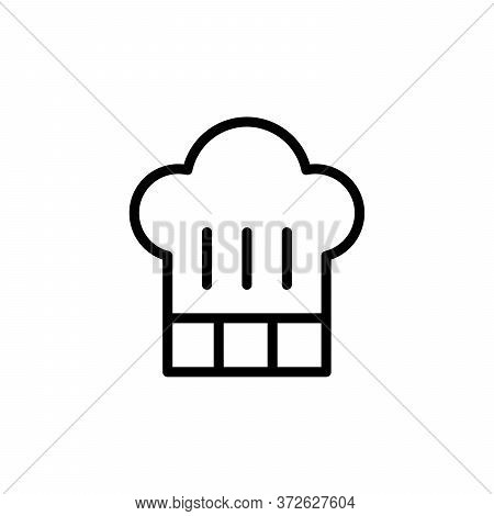 Chef Hat Concept Line Icon. Simple Element Illustration. Chef Hat Concept Outline Symbol Design From