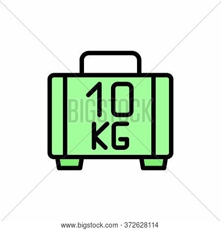 Luggage 2 Colored Line Icon. Simple Colored Element Illustration. Luggage Concept Outline Symbol Des