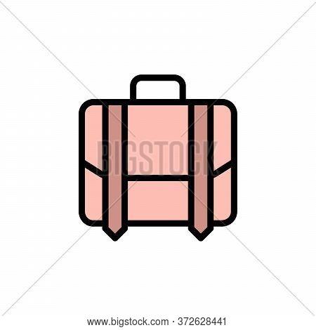 Briefcase 2 Colored Line Icon. Simple Colored Element Illustration. Briefcase Concept Outline Symbol