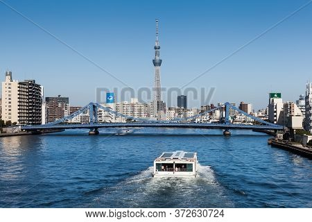 Tokyo - Nov 04, 2012 : View Of Tokyo Sky Tree (634m) , The Highest Free-standing Structure In Japan
