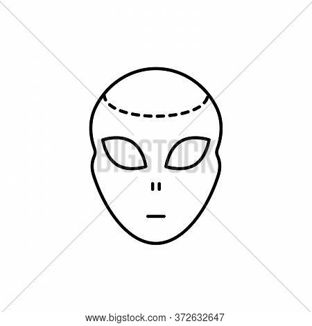 Ufo, Alien Concept Line Icon. Simple Element Illustration. Ufo, Alien Concept Outline Symbol Design