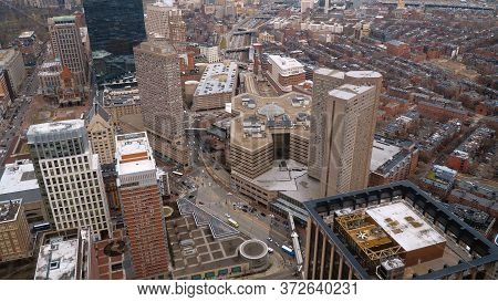 The City Center Of Boston - Aerial View