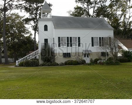 St. Marys, Georgia-march 2, 2020: The First Presbyterian Church Was Built In 1808. Among The Oldest