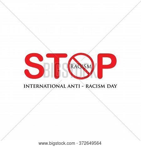 Vector Illustration Anti Racism Logo Design Template,stop Racism.