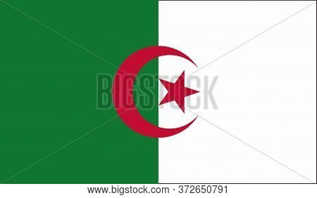 Algeria Flag, Official Colors And Proportion Correctly. National Algeria Flag. Vector Illustration.