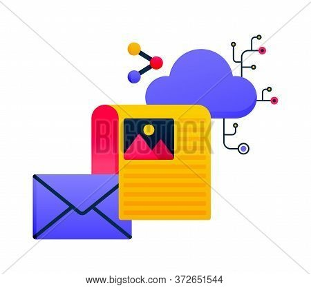 Network Logos Design For Cloud Database Server Services, Email Sharing And Send Documents. Logos Can