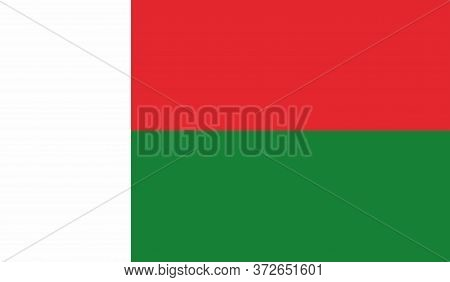 Madagascar Flag, Official Colors And Proportion Correctly. National Madagascar Flag. Vector Illustra