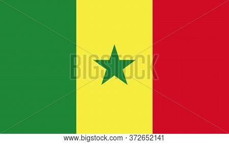 Senegal Flag, Official Colors And Proportion Correctly. National Senegal Flag. Vector Illustration.