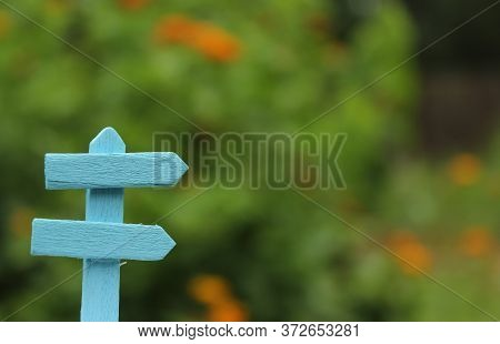 Rustic Signboard In Rural  Outdoor Area Shallow Dof